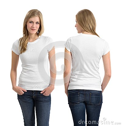 Free Blond Female With Blank White Shirt Stock Photos - 33405233