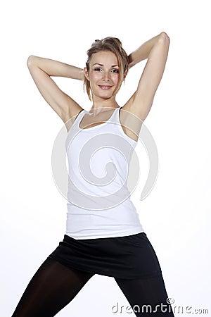 Blond fitness sport girl