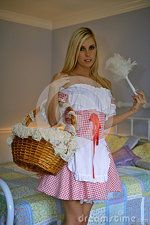 Blond Girl As French Maid Stock Images Image 31089054
