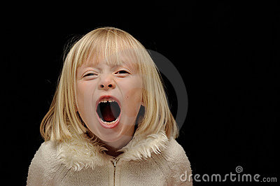 Blond Girl Screaming