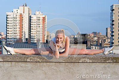 Blond gymnastic girl