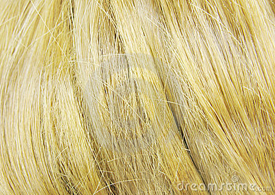 Blond hair as background