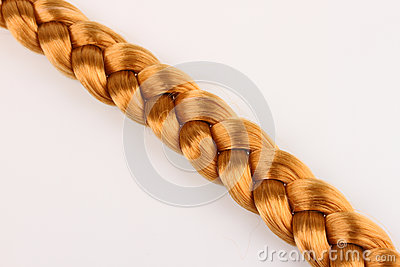Blond hair braid