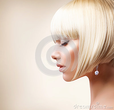 Free Blond Hair. Haircut Stock Images - 25561524