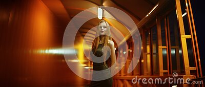 Blond Haired Woman In Indoor Portrait Free Public Domain Cc0 Image
