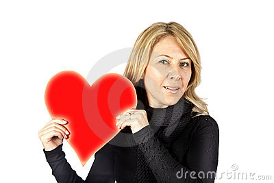 Blond with heart