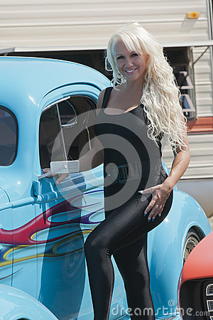 Blond with hotrod