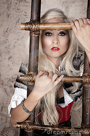 Blond with ladder
