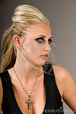 Blond mörk lättretlig makeup