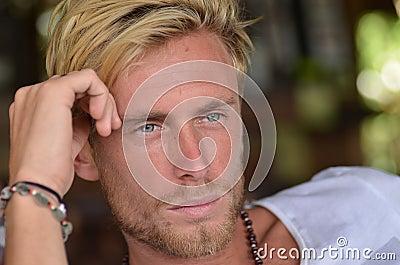 Blond man