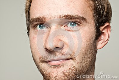 Blond man portrait