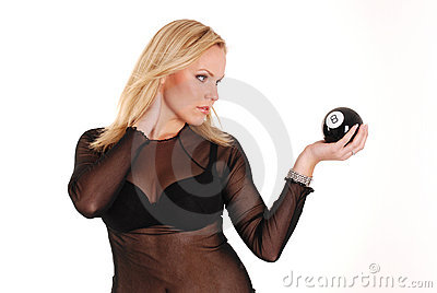 Blond model with 8 ball