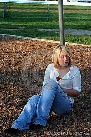 Free Blond On Playground 3 Royalty Free Stock Image - 6892116