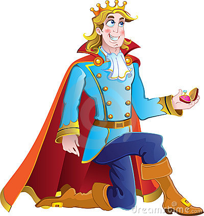 Blond prince ask charming princess hand in marriag