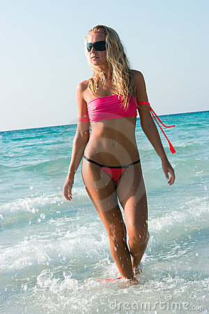 Blond and sea