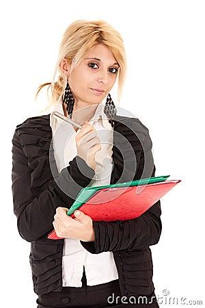 Blond secretary
