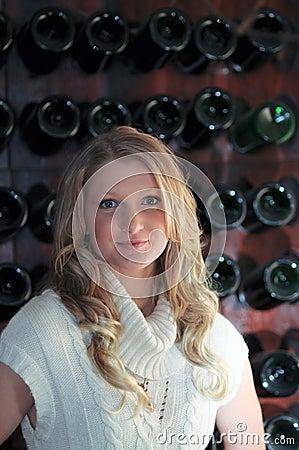 Blond Teen wine rack