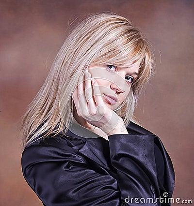 Blond teenage girl