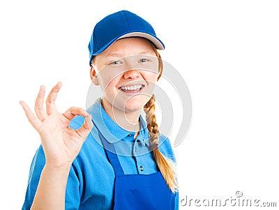Blond Teenage Worker - A Okay