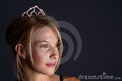 Blond with tiara