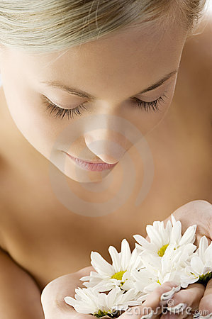 Free Blond With White Daisy Stock Photo - 10237780