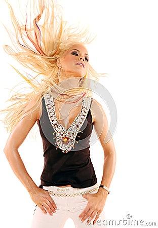 Free Blond Woman Dancing Royalty Free Stock Image - 2733756