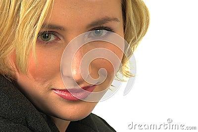 Blond woman green eyes #4