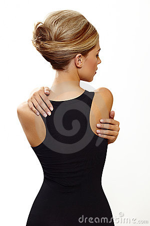 Free Blond Woman In Sexy Black Dress Stock Photos - 21672963