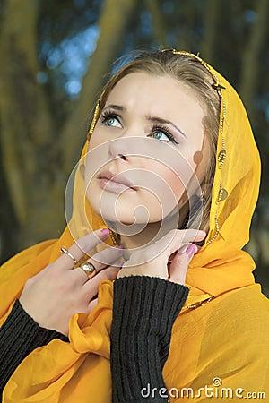 Blond Woman in Kerchief