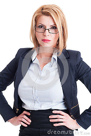 Free Blonde And Bossy Business Woman Royalty Free Stock Images - 50290649