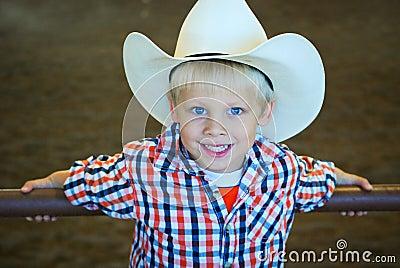 Blonde hair cowboy
