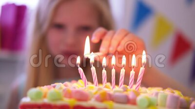 Pleasant The Birthday Girl Makes A Wish And Blows Out The Candles On A Funny Birthday Cards Online Elaedamsfinfo