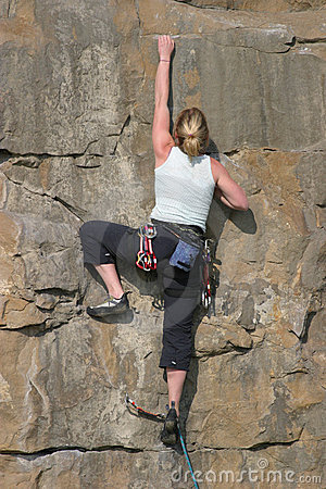 Free Blonde Climber Stock Photos - 173823