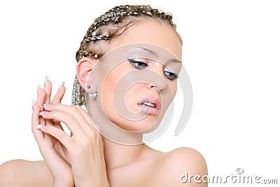 Blonde com dreadlocks