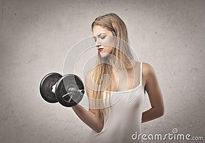 Blonde Girl Exercise