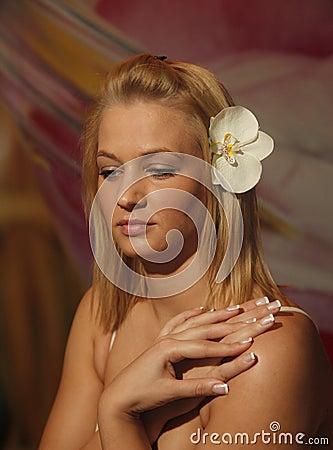 Blonde girl portrait