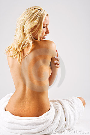 Free Blonde Girl With Bare Back Stock Image - 2975881