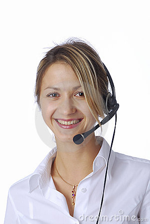 Free Blonde Girl With Headphone Stock Photography - 3198642