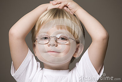 Blonde Haired Boy In Glasses