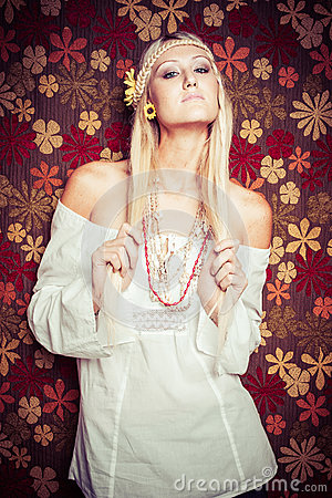 Free Blonde Hippy Woman Royalty Free Stock Photos - 92942478