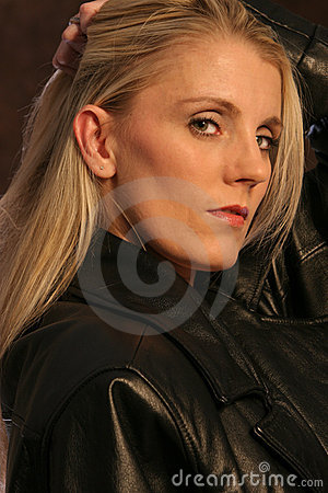 Free Blonde In Leather Two Royalty Free Stock Photos - 179168