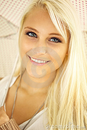 Blonde Lady With Sparkling Eyes