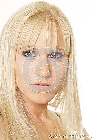 Blonde looking ahead
