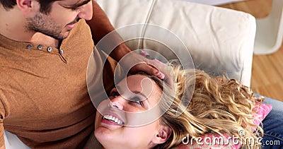 Facial On Boyfriends Lap