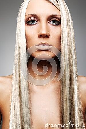 Blonde met mooi lang haar