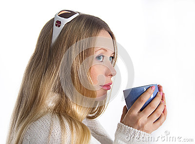 Blonde With Mug Royalty Free Stock Photos - Image: 29290908