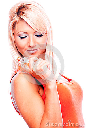 Blonde with perfume
