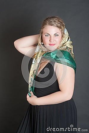 Blonde in a scarf