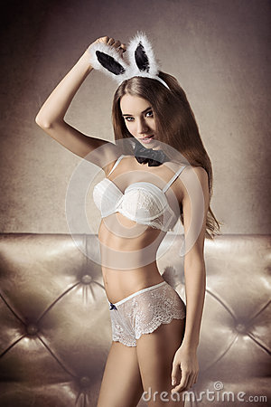 sexy girl rabbit lingerie
