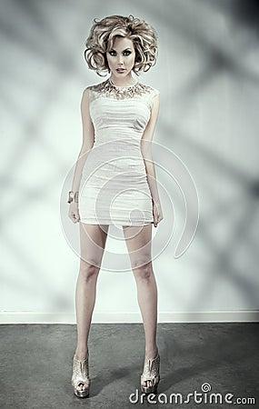 Blonde in a short dress